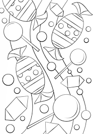 Click To See Printable Version Of Candy Pattern Coloring Page