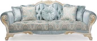 casa padrino luxus barock sofa mit dekorativen kissen türkis creme gold 234 x 87 x h 99 cm wohnzimmermöbel im barockstil barockgroßhandel de