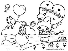 Birthday Coloring Pages Printable New Free Hello Kitty Melody Merry