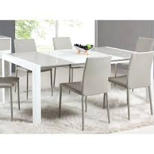 Extendable Dining Room Table Lacquer Parson In White Grey Set