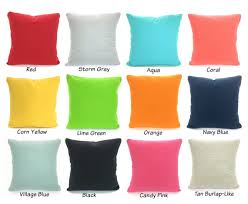 Coral Colored Decorative Items by Solid Color Pillow Covers Cushions Decorative Throw Pillows