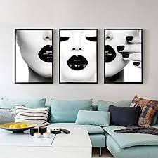 xiaojie0104 frauen mit schwarzen lippen poster und