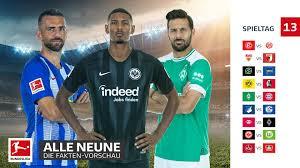 Bundesliga Die FaktenVorschau Zum 13 Spieltag
