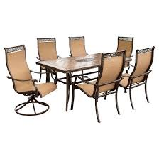 Target Patio Set With Umbrella by Hanover Outdoor Furniture Monaco 7 Pc Dining Set With Umbrella