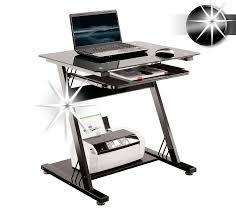 bureau ordinateur en verre sixbros bureau informatique en verre très brillant noir ct