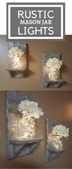 Rustic Home Decor Mason Jar Vase Sconces Set Of 2 SconcesHouse