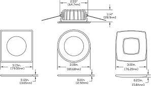 Sailboatstuff Imtra Marine Lighting Ventura Rs Hs And Recessed Dimensions