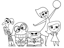Disgust Inside Out Coloring Pages 2