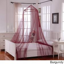Canopy Bed Curtains Walmart by Oasis Round Hoop Sheer Bed Canopy Walmart Com