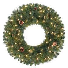 shop artificial christmas wreaths at lowes com