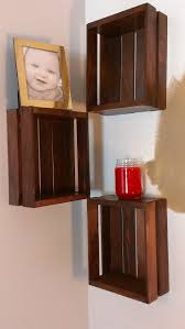 Wood Crate Shelf Diy by 54 Best Wooden Crate Idea U0027s Images On Pinterest Home Projects