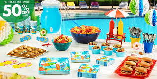 Patterned Tableware 50 Off MSRP Beach Party Theme