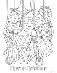 Free Christmas Ornament Coloring Page 01 Artzy Creations