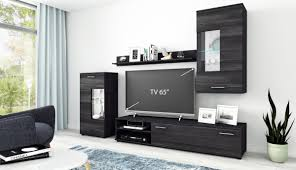 Anbauwand Wohnzimmer Mã Bel Wohnwand Wohnzimmer Set Cool 4 Tlg Kommode Wandboard Tv Lowboard Schwarz Holz