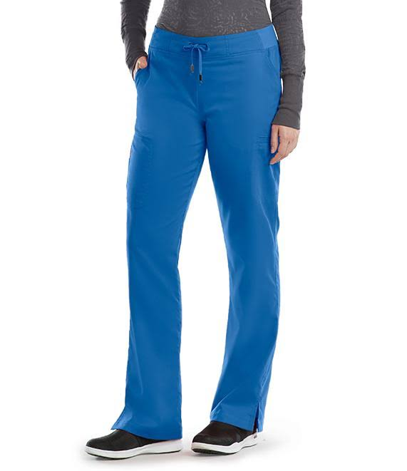 Greys Anatomy 6 Pocket Tie Front Cargo Pants - Royal Blue