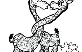 Baby Giraffe Coloring Pictures Cute Pages Printable Crayola Full Size