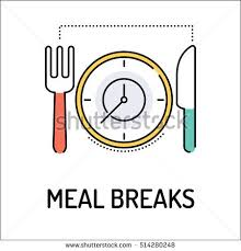MEAL BREAKS Line Icon