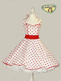 50 u0027s vintage dress full skirt white red polka dots dress