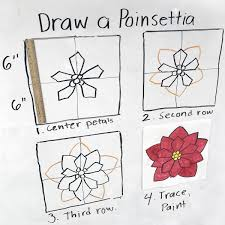 How To Draw A Poinsettia · Art Projects For Kids