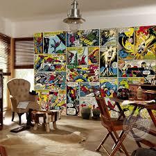 chambre marvel marvel papier peint personnalisé peintures murales 3d