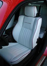 White Leather Seats; Custom Leather Interior - Dodge Challenger ...