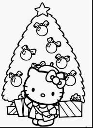 Fantastic Hello Kitty Christmas Coloring Pages With And