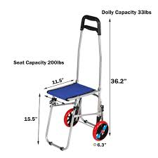 100 Walmart Carts Folding Chairs KARMAS PRODUCT Shopping Cart With Seat Collapsible Dolly