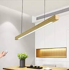 led hängeleuchte holz esstisch dimmbar pendelleuchte l80 cm längliche design esszimmerle modern esstischle mit fernbedienung hängele für