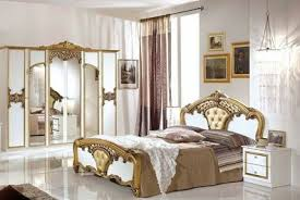 schlafzimmer elisa weiss gold 160x200 klassik italien 4tlg komplett schlafzimmer