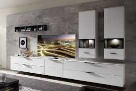 mediana wohnwand inkl led beleuchtung weiß grau günstig möbel küchen büromöbel kaufen froschkönig24