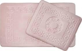 vintage premium badgarnitur 2 teilig wc matten bad teppich vorleger set rosa pink al 9522 rosa