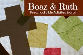 Preschool Bible Activities Boaz Ruth