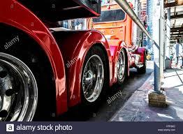 Red Truck, 18 Wheeler On A New York Street Stock Photo: 135555713 ...