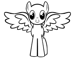 Cute Baby Pegasus Coloring Pages