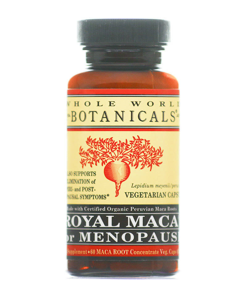 Whole World Botanicals Royal Maca For Menopause - 60 Maca Root Capsules