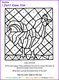 Peter When He Denies Jesus Coloring Pages