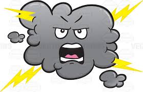 Yelling And Angry Stormy Cloud Emoji Cartoon Clipart Vector Toons