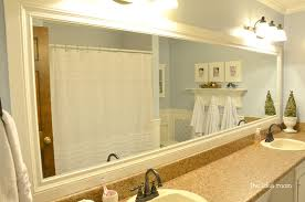 Mosaic Bathroom Mirror Diy by Winsome Frame An Existing Bathroom Mirror Kits For Mirrors How To