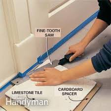 how to install marble tile floor a tumbled entryway