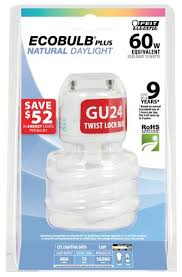 feit bpesl13t gu24 d 13 watt mini twist daylight gu24 base 60 watt