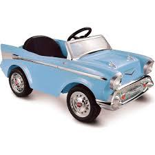 100 Power Wheels Chevy Truck Kid Motorz Bel Air 12Volt Batteryed RideOn Blue