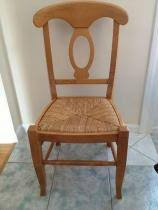 Cost to Deliver a Four Pottery Barn Napoleon Rush Seat Chairs in