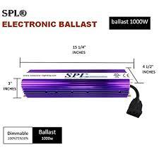 1000 Watt Hps Bulb And Ballast by Spl 1000 Hydroponic 1000 Watt Hps Mh Digital Dimmable Electronic