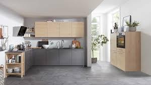 interliving küche serie 3008 mit aeg einbaugeräten stahlgrau asteiche zweizeilig