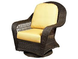 Chicago Wicker Charleston High Back Swivel Glider Club Chair ...