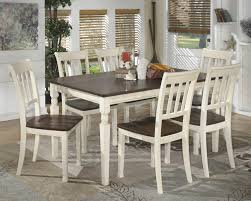 Whitesburg Rectangular Dining Room Table 6 Side Chairs