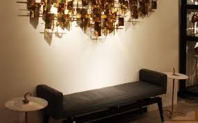 dekoideen wohnzimmer mit 3d wanddeko metall für moderne