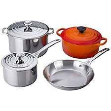 le creuset pots prices le creuset 7 stainless steel and enameled cast