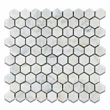 Oracle Tile And Stone Amazon by Bianco Venatino Marble 1 25 U2033 Hexagonal Mosaic Tile Oracle Tile