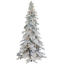 Vickerman Flocked Slim Christmas Tree by Vickerman 6 5 Ft Flocked Slim Utica Fir Dura Lit Christmas Tree